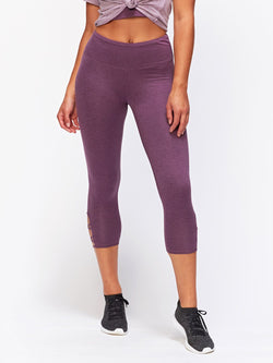Monica Crop Criss Cross Legging Womens Bottoms Leggings Threads 4 Thought XS Heather Currant