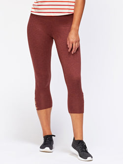 Monica Crop Criss Cross Legging Womens Bottoms Leggings Threads 4 Thought XS Heather Penny