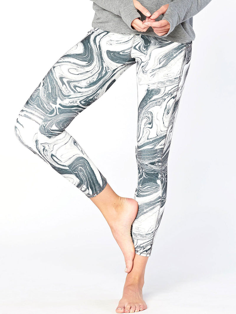 Astrid Printed Legging Womens Bottoms Leggings Threads 4 Thought XS Grayscale Marble