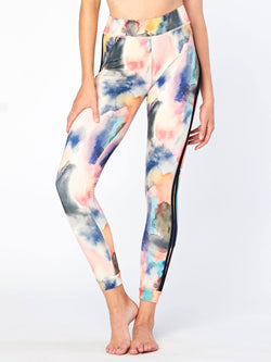Gaia Printed Legging Womens Bottoms Leggings Threads 4 Thought XS Watercolor Dreams
