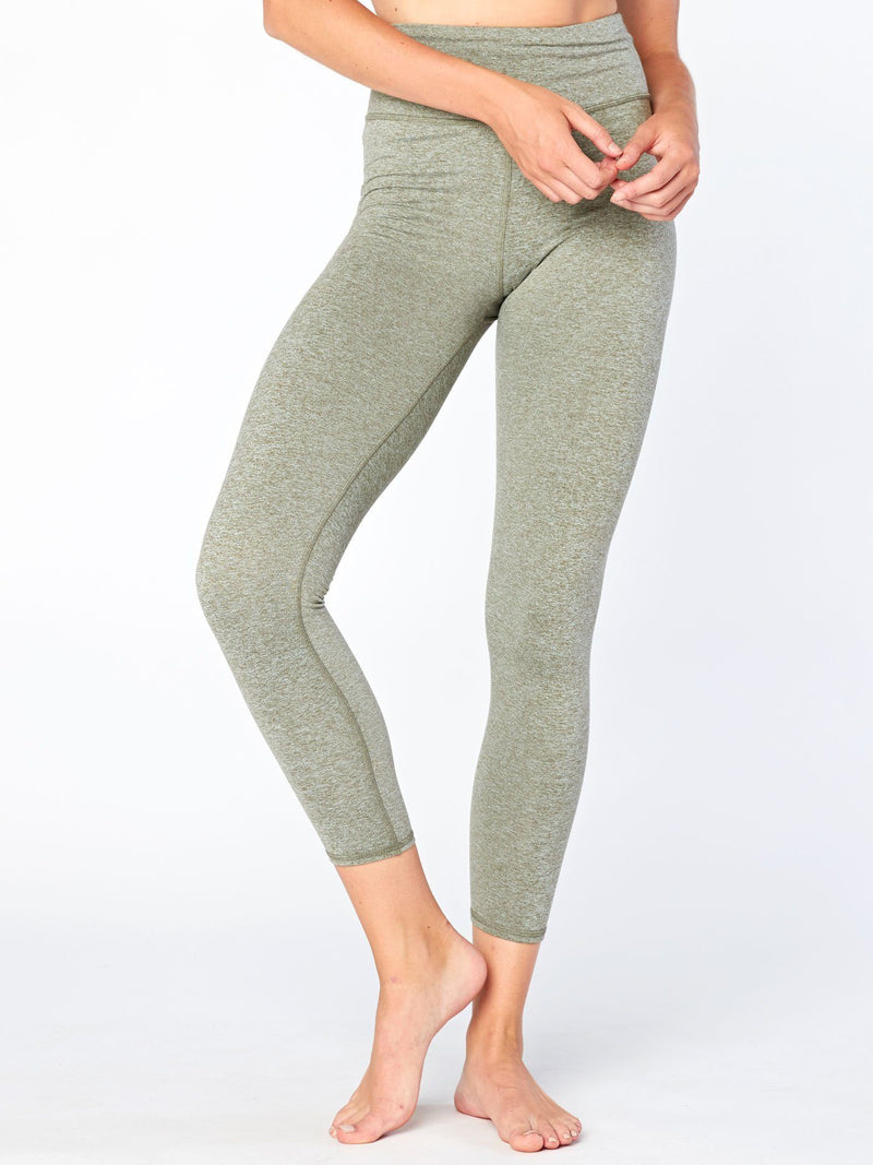 Claire High Rise 7/8 Legging Womens Bottoms Leggings Threads 4 Thought XS Heather Artichoke