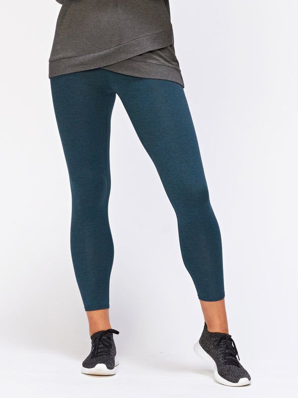 Claire Hi-Waisted 7/8 Legging Womens Bottoms Leggings Threads 4 Thought XS Heather Mallard