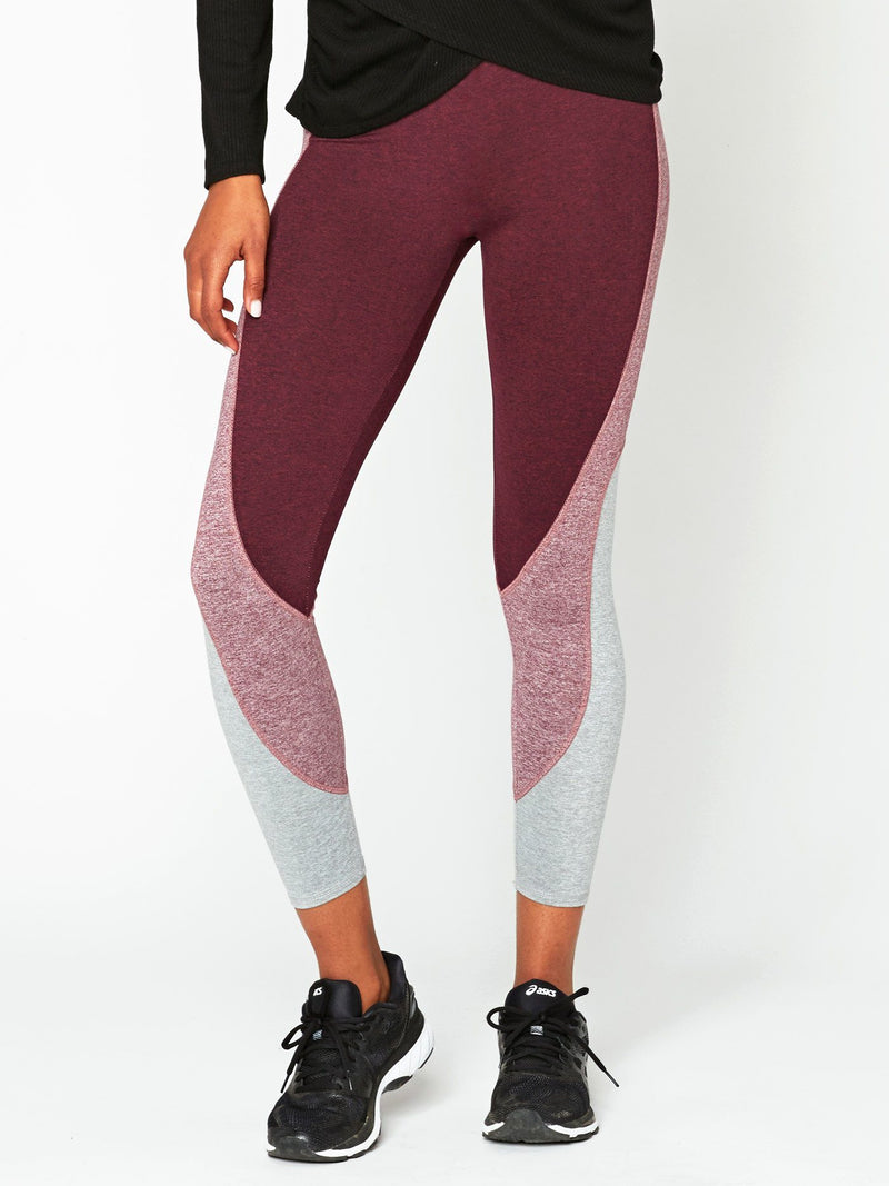 Tranquil High Rise Legging Womens Bottoms Leggings Threads 4 Thought XS Heather Royal Burgundy