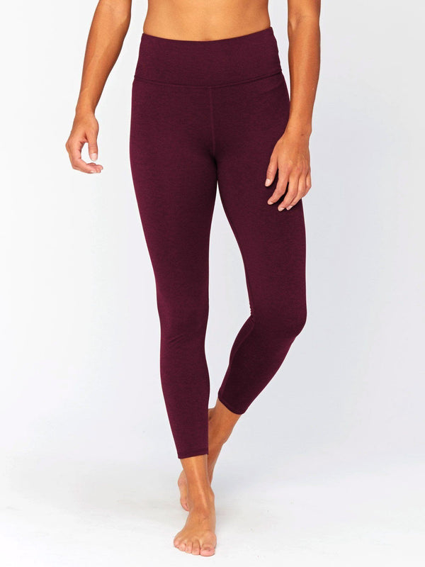 Claire Mid Rise 7/8 Legging Womens Bottoms Leggings Threads 4 Thought XS Heather Royal Burgundy