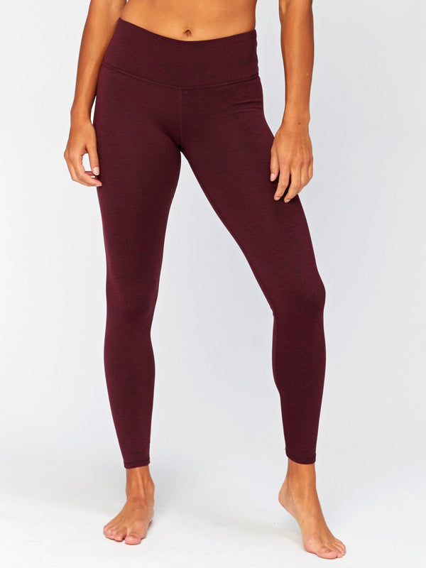 Betty Mid Rise Legging Womens Bottoms Pants Threads 4 Thought XS Heather Royal Burgundy