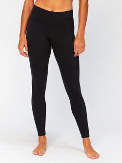 Jackie Mid Rise Legging Womens Bottoms Leggings Threads 4 Thought XS Jet Black
