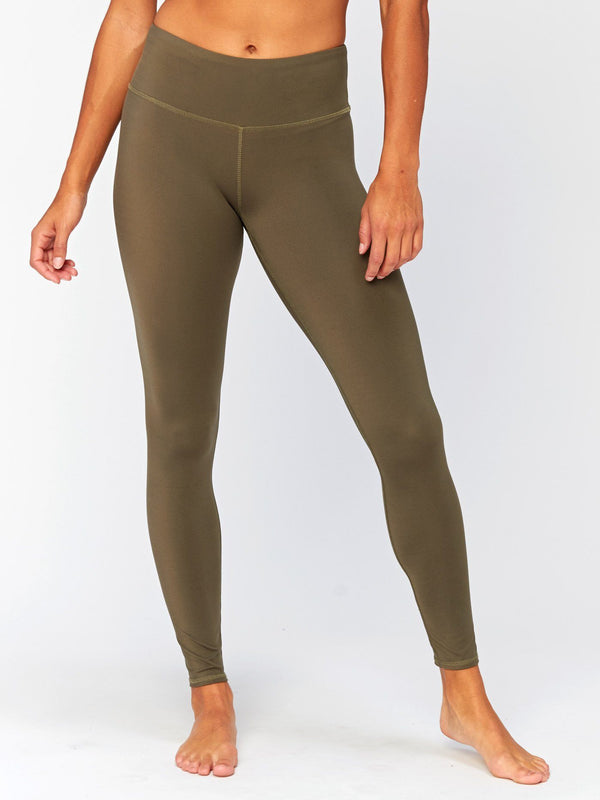 Jackie Mid Rise Legging Womens Bottoms Leggings Threads 4 Thought XS Ranger Green