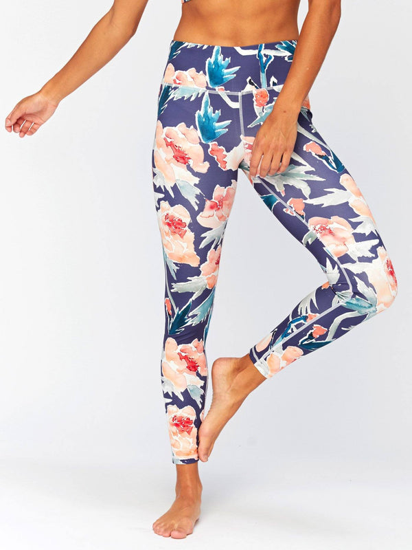 Peony High Waisted 7/8 Legging Womens Bottoms Leggings Threads 4 Thought