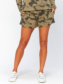 Dulce Camo Printed Short Womens Bottoms Shorts Threads 4 Thought XS Artichoke