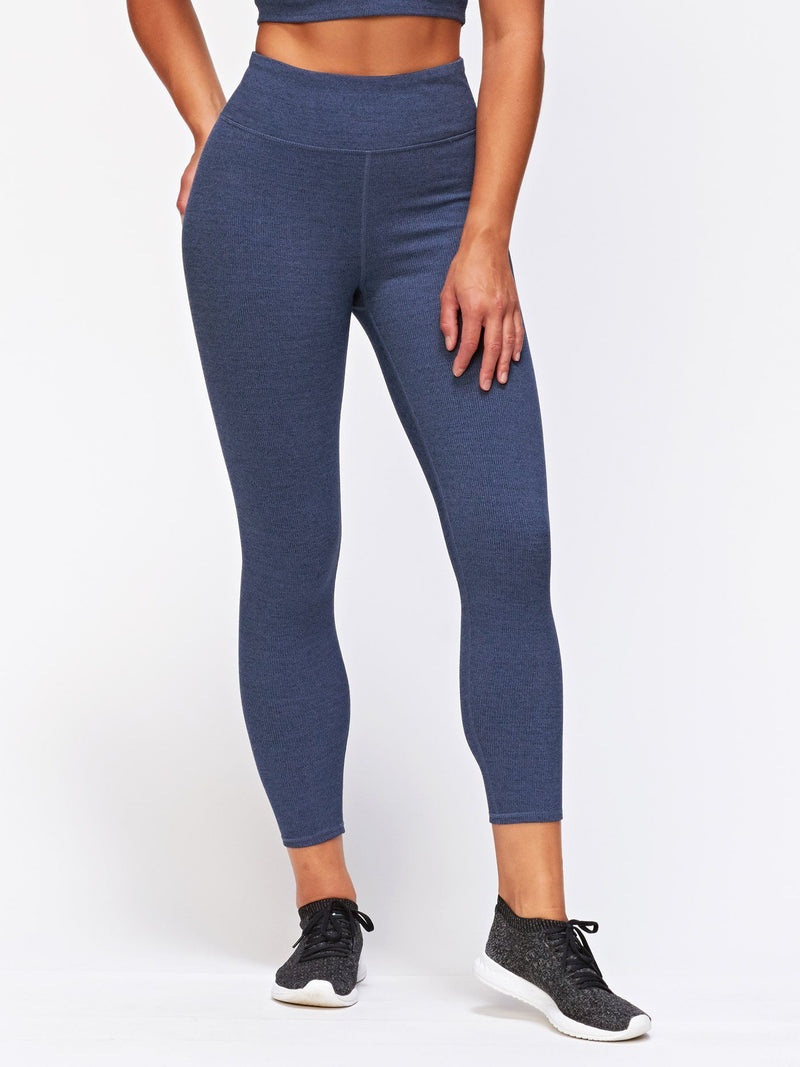 Arielle Rib Legging Womens Bottoms Leggings Threads 4 Thought XS Heather Chambray