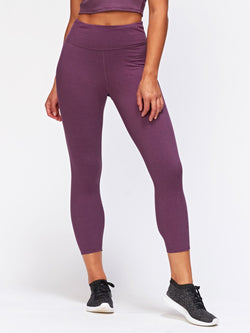 Arielle Rib Legging Womens Bottoms Leggings Threads 4 Thought XS Heather Currant