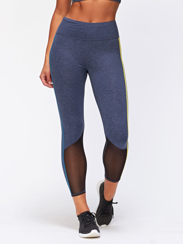 Adalyn Mesh Panel Legging Womens Bottoms Leggings Threads 4 Thought XS Heather Chambray