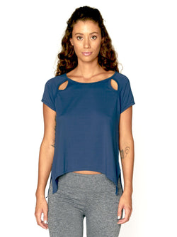 Eunice Top Womens Tops Threads 4 Thought XS Navy