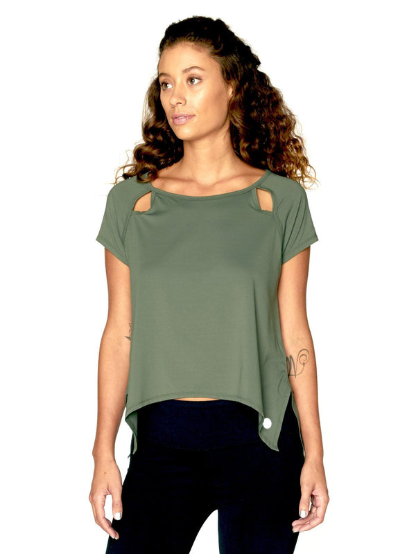 Eunice Top Womens Tops Threads 4 Thought XS Olive