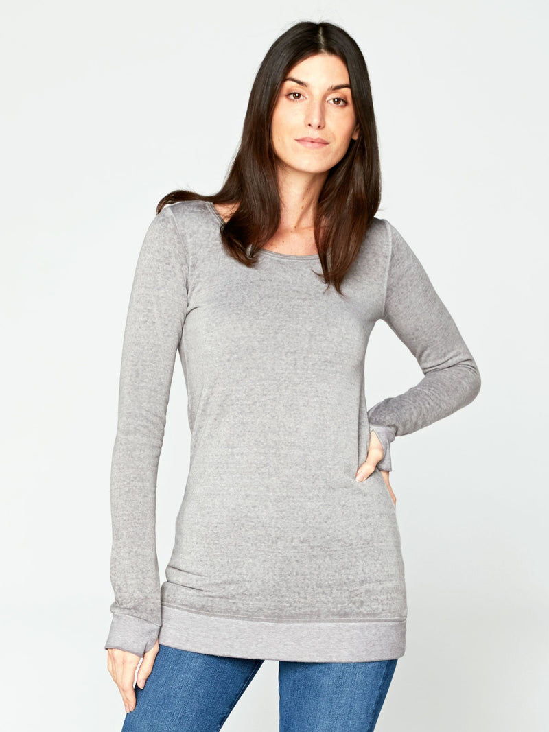 Hazelwood Tunic Womens Tops Threads 4 Thought XS Heather Steel