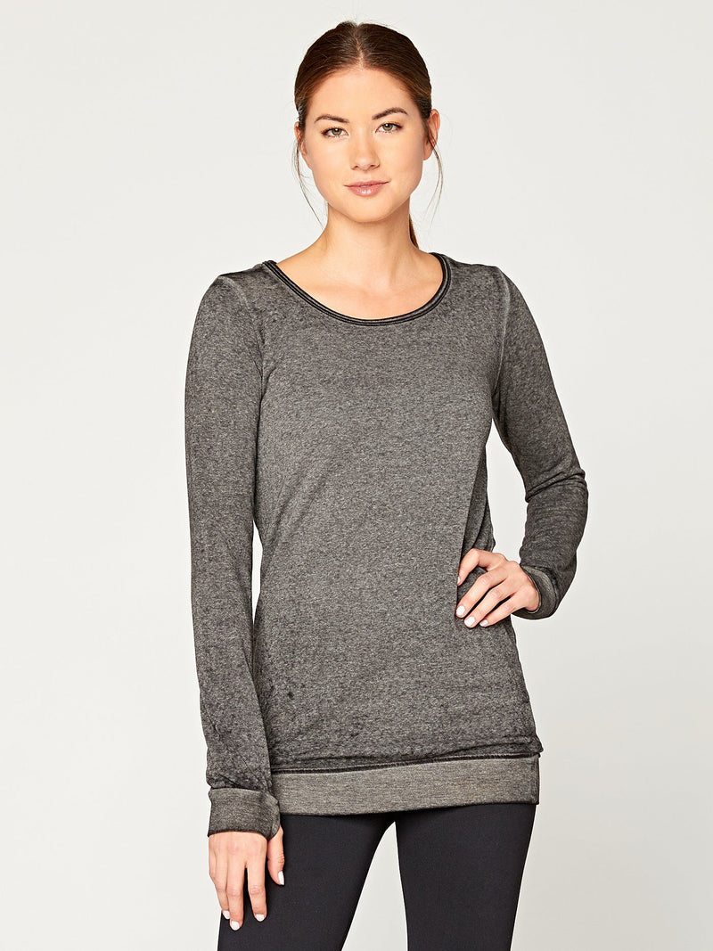 Hazelwood Tunic Womens Tops Threads 4 Thought XS Jet Black