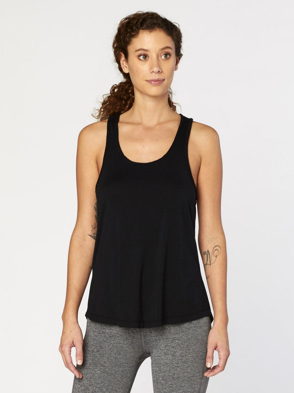 Namaste Tank Womens Tops Threads 4 Thought XS Jet Black