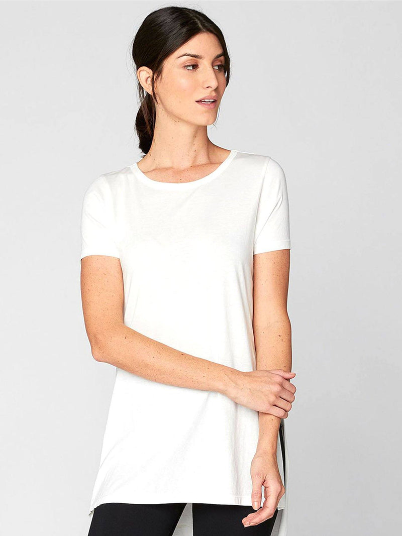 Brogan Tee Womens Tops Threads 4 Thought XS White
