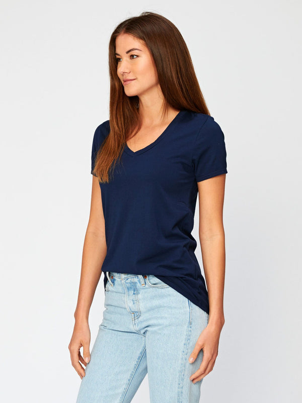 Liza V Neck Womens Tops Threads 4 Thought