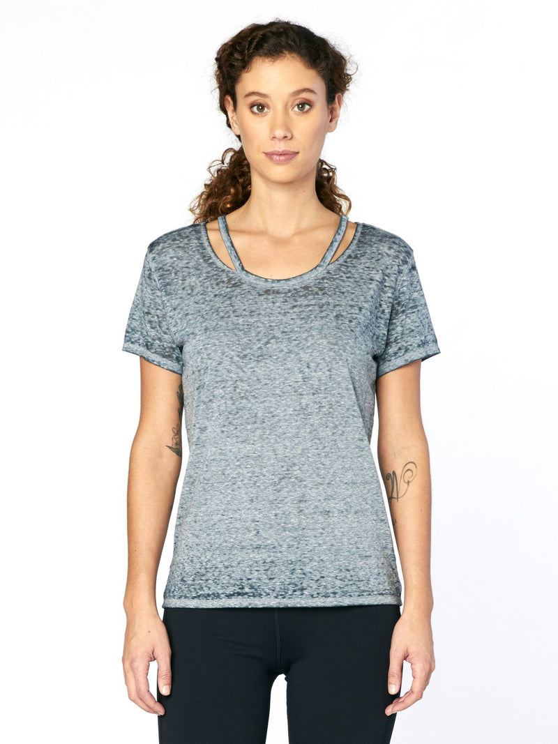 Max Tee Womens Tops Threads 4 Thought XS Slate