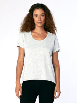 Evie Tee Womens Tops Threads 4 Thought XS Heather Gray