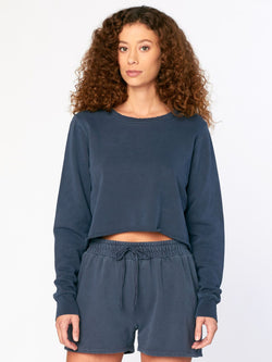 Vara Crop Top Womens Tops Threads 4 Thought XS Raw Denim