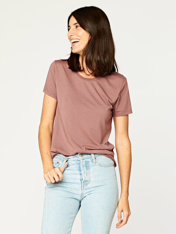 Leigh Scoop Neck Womens Tops Threads 4 Thought XS Twilight Mauve