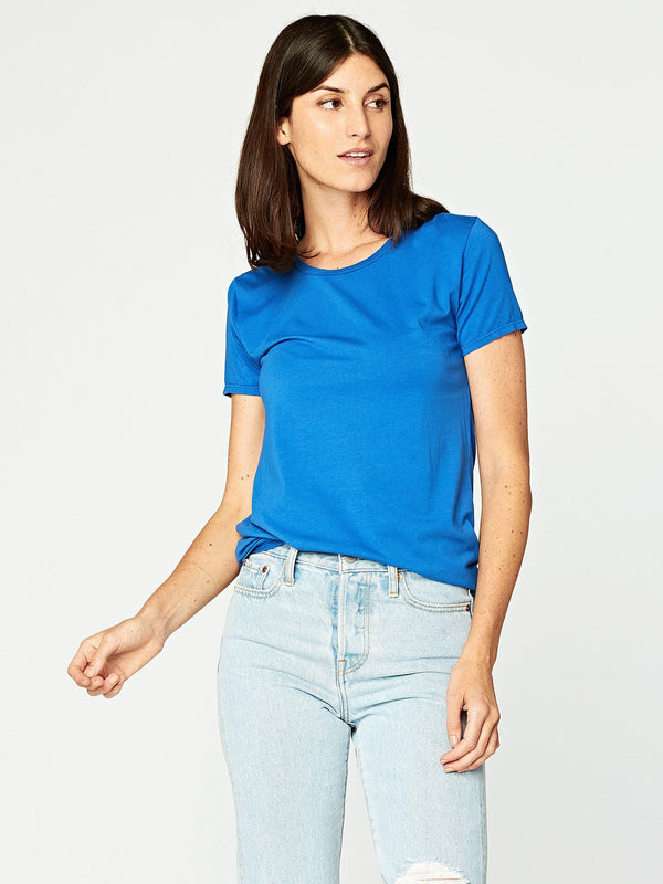 Leigh Scoop Neck Womens Tops Threads 4 Thought XS Varsity Blue