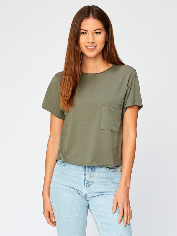 Maggie Tee Womens Tops Threads 4 Thought XS Artichoke
