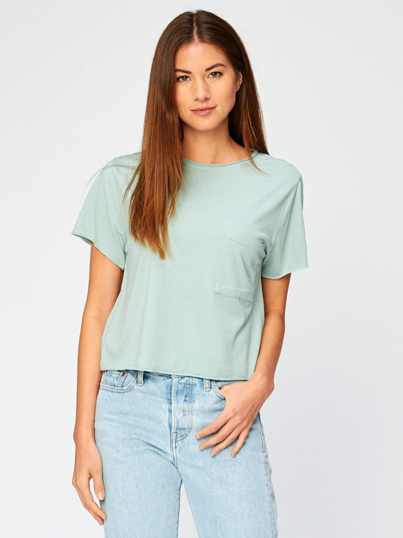 Maggie Tee Womens Tops Threads 4 Thought XS Jade