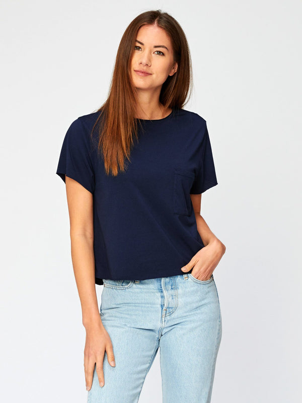 Maggie Tee Womens Tops Threads 4 Thought XS Raw Denim