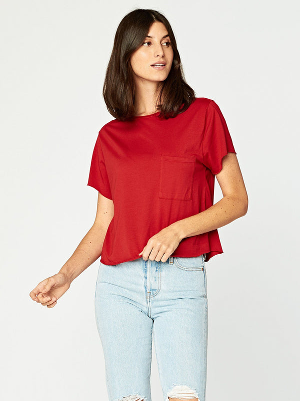 Maggie Tee Womens Tops Threads 4 Thought XS Collegiate Red