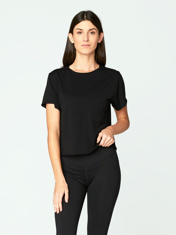 Maggie Tee Womens Tops Threads 4 Thought XS Jet Black