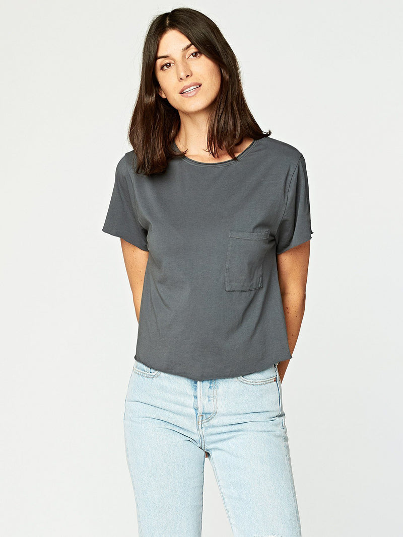 Maggie Tee Womens Tops Threads 4 Thought XS Slate