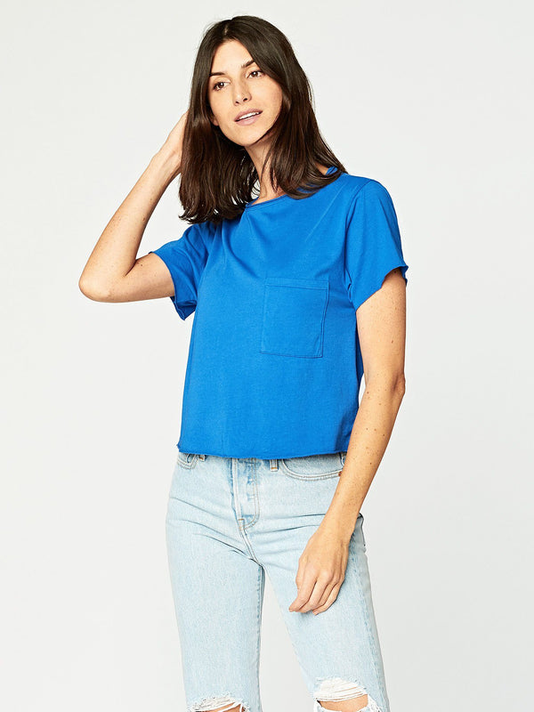 Maggie Tee Womens Tops Threads 4 Thought XS Varsity Blue