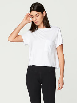 Maggie Tee Womens Tops Threads 4 Thought XS White