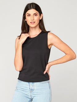 Nora Tank Womens Tops Threads 4 Thought XS Jet Black