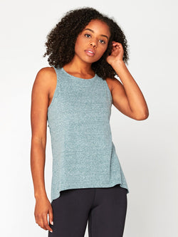 Chloe Drape Back Tank Womens Tops Tank Threads 4 Thought XS Shale Green