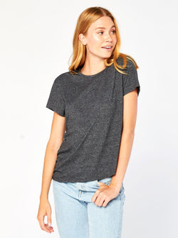 Nelly Zip Top Womens Tops Tee Threads 4 Thought XS Heather Black