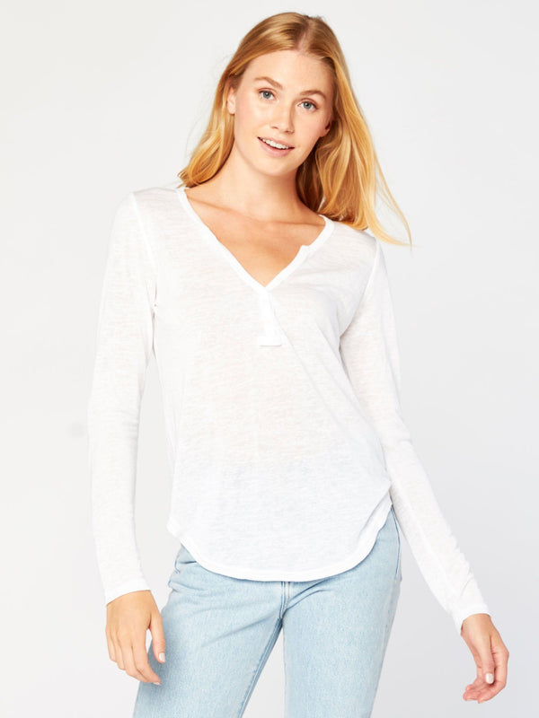 Rowan Henley Womens Tops Top Threads 4 Thought XS White