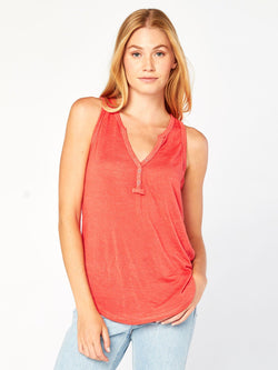 Rowana Tank Henley Womens Tops Top Threads 4 Thought XS Signal