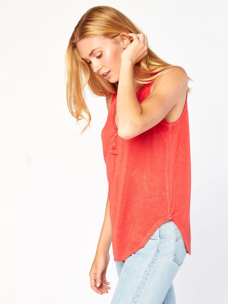 Rowana Tank Henley Womens Tops Top Threads 4 Thought