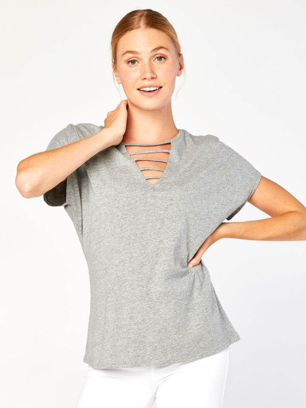 Alice Top Womens Tops Top Threads 4 Thought XS Heather Grey