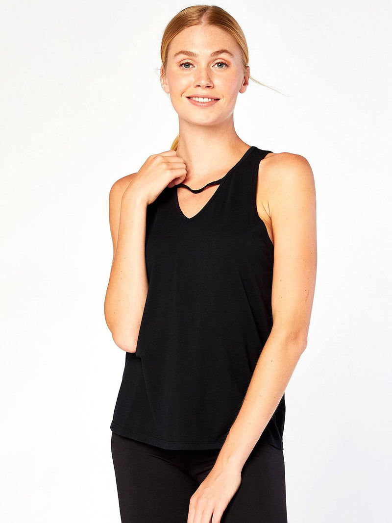 Sandra Tank Womens Tops Tank Threads 4 Thought XS Jet Black