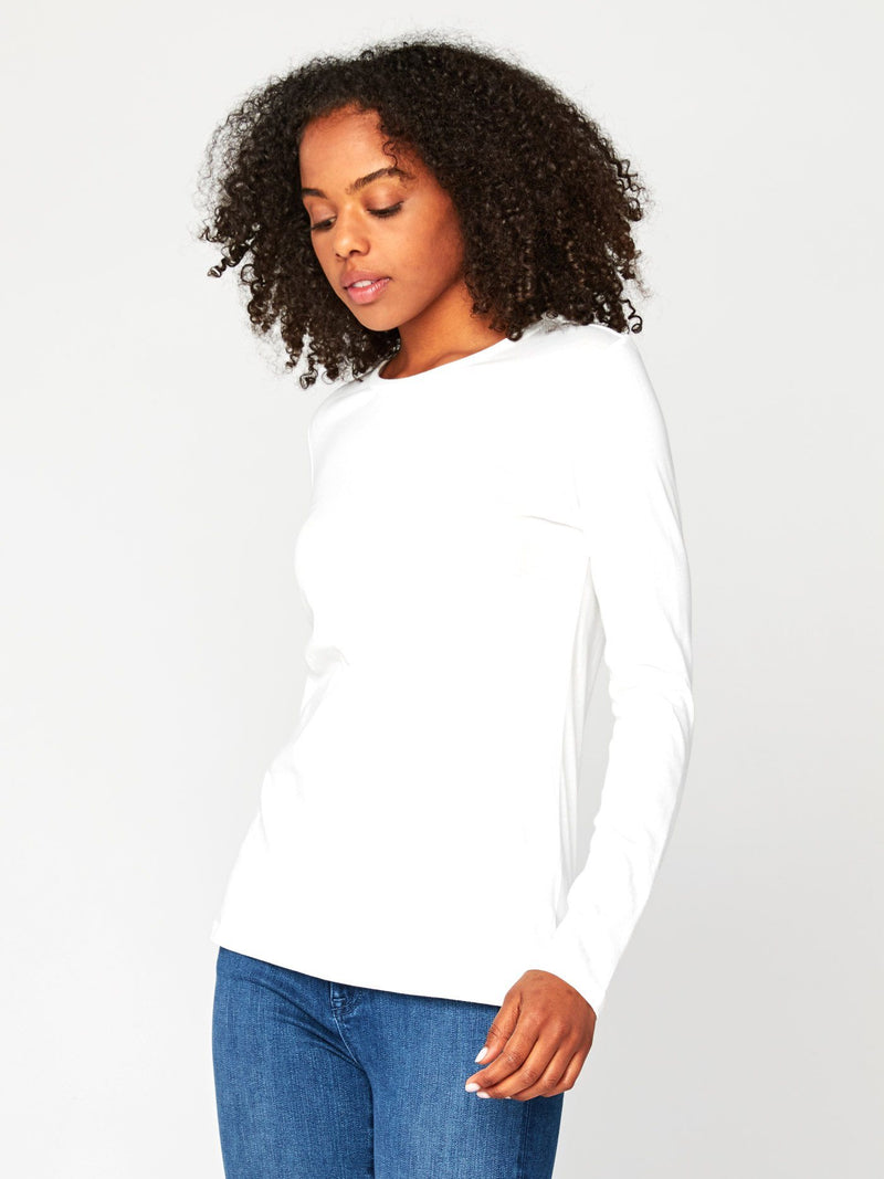 Leigh Long Sleeve Scoop Neck Womens Tops Tee Threads 4 Thought