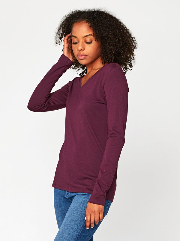 Liza Long Sleeve V-Neck