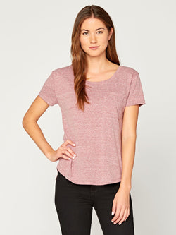 Ezra Triblend Tee Womens Tops Threads 4 Thought XS Brick Red