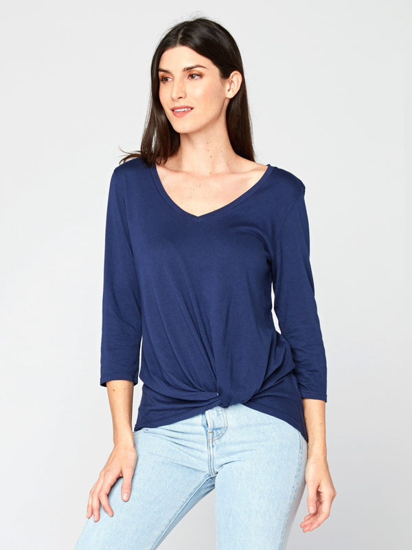 Aisha 3/4 Sleeve Top Womens Tops Threads 4 Thought XS Raw Denim