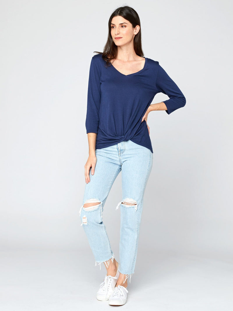 Aisha 3/4 Sleeve Top Womens Tops Threads 4 Thought