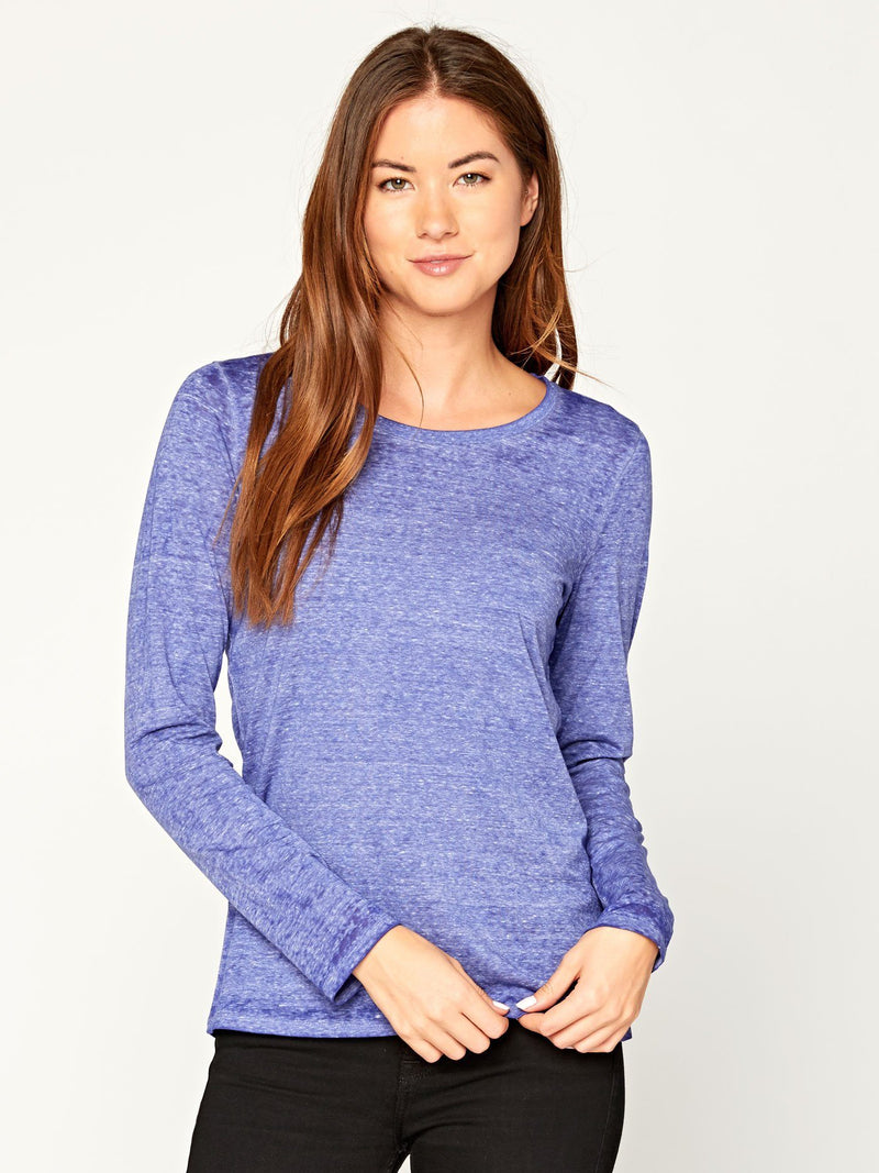 Long Sleeve Burnout Scoop Tee